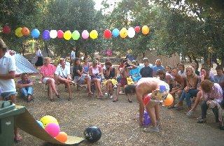 Kinderaktion im Camp