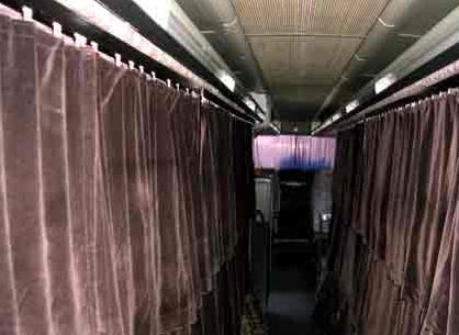 Betten im Hundertwasser-Bus