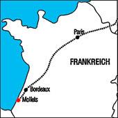 Frankreich Atlantik Landkarte