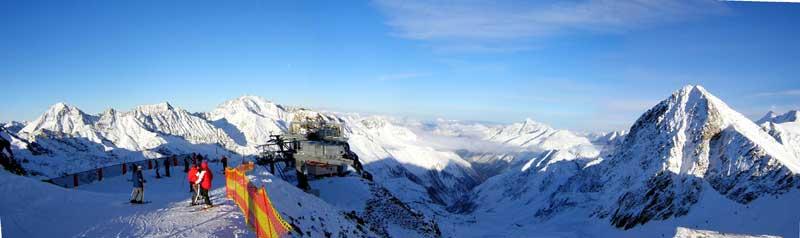 Panorama Stubaier Gletscher-Skigebiet