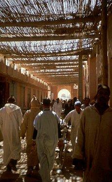 Basar in Marakesh, Busreise Marokko