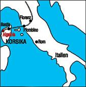 Korsika Landkarte